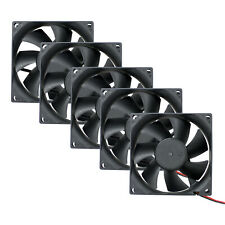 5 pack 80mm Cooling Fan Sleeve Bearing Computer Case 3 Pin