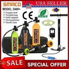 2020 Smaco Mini Scuba Diving Equipment Kit 1L Oxygen Cylinder Tank Air Hand Pump