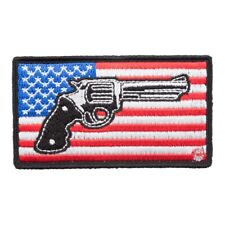American Flag Revolver Patch, Patriotic US Flag Patches