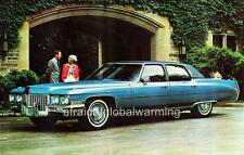 Old Photo.  1971 Cadillac Fleetwood Sixty Special Brougham - Blue