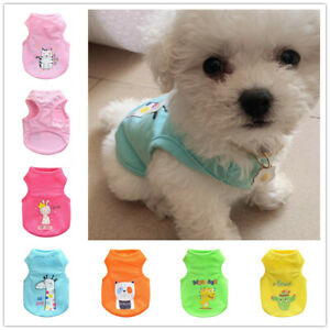 Girl Pet Shirt PJ's Boy Dog Vest Cat Clothes for chihuahua yorkie maltese Teacup