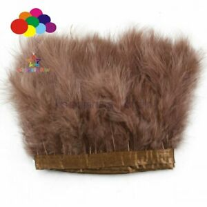 2 meter Soft Marabou Turkey Feather Trims Trimming 6-7 inch Decor Ribbon for DIY