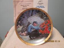 Star Trek 20th Anniv. Plate Devil in the Dark Hamilton Ernst W/Coa 1986-1987