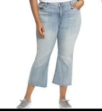 Kut from the Kloth Womens Kelsey Cropped Ankle Flare Jeans Plus Size 16W