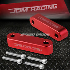 FOR 88-00 CIVIC/90-01 INTEGRA RED ALUMINUM HOOD RISER SPACER KIT AIR IN FLOW