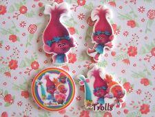 4 x Cutie Trolls Flatback Planar Resin Embellishment Crafts Hair bow Cabochon UK