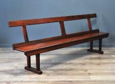 """Attractive Antique Victorian Large 98"""" Wide Pitch Pine Rustic Hall Bench Pew"""