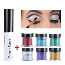 Beauty Waterproof Matte Liquid Lipstick Lip Gloss Eye Shadow Glitter Powder&Glue