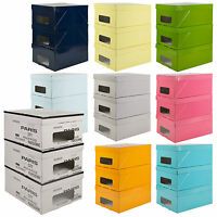 3 Underbed Storage Boxes With Handles Lids Clothes Collapsible Lightweight