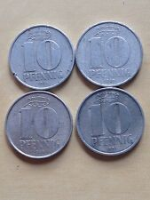 Lot 10 Pfennig 1965, 1967, 1968, 1971 (4 Münzen), DDR - 413 -