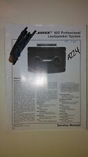 Bose 802 service manual original repair book stereo pro loud speaker system