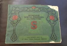 Vintage Singer Sewing Machine Accessories 12 images Instructions Catalogue 1912