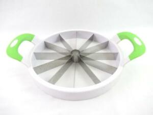 Pie Cake Cutter Divider Slicer Metal Blades Silicone Pressing Handles 12 Slices