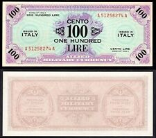 More details for italy, allied military currency, 100 lire, 1943a, a51258274a (wpm m21a). au.
