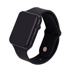 Mens Plastic Universal Digital Movement LED Electronic Watch Sports Wristwatch