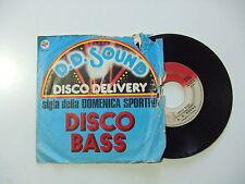 "D.D. Sound / Disco Bass – Disco Vinile 45 Giri 7"" Stampa Italia 1977"