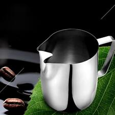 Stainless Steel Twin Spout Milk Frothing Jug Espresso Coffee Pitcher Barista