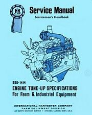 International Farmall Tractor Engine Tune-up Tuneup Specification Service Manual