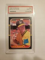 1987 Donruss Mark Mcgwire Rated Rookie PSA Graded Mint 9 Card