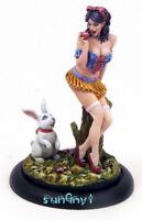 1/32 Unpainted Girl Rabbit Figure Sexy Model Resin Statue GK Unassembled 2.2''