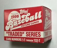 1986 TOPPS TRADED Baseball Factory UNOPENED Set out of case BONDS RC F6020505