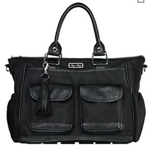 Itzy Ritzy Triple Threat Black Convertible Tote Messenger Backpack Diaper Bag