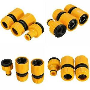 3 Pack Garden Water Hose Pipe Tap Connectors Conection Fitting Adaptor Hoselock