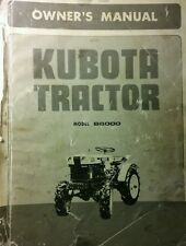 Kubota B6000 Diesel 4X4 Tractor & Implements Operator & Parts (4 Manuals)170pg