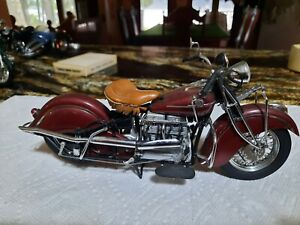 INDIAN MOTORCYCLE 1942 MODEL 442 FRANKLIN MINT 1:10 SCALE DIE CAST $19.00