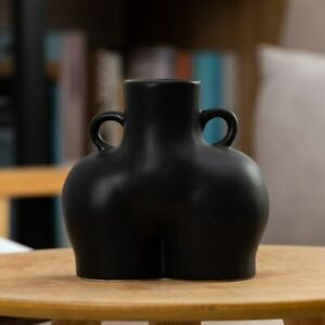 Human Booty Shaped Art Vase Tabletop Decor Human Flower Pot Container Handled