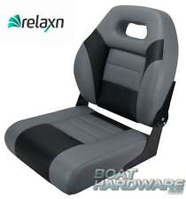 BOAT SEAT Relaxn® Deluxe Bay Series GREY/BLACK Upholstered Marine Folding Chair