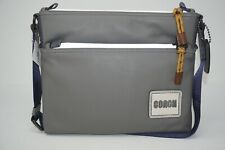 Coach Mens Pacer with Coach Patch Grey Smooth Leather Crossbody Bag 78835