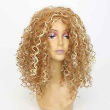 Women Synthetic Long Afro Curly Wig Mix Blonde Wigs African Hair American