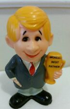 "Vintage World's Best Father plastic Figure 1970 Berries Blonde 4.5"" Cake Topper"