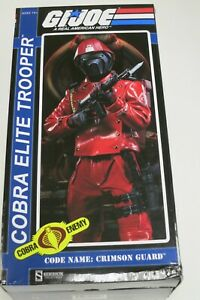 "SIDESHOW G.I. Joe Cobra Crimson Guard 1/6th Scale Action Figure 12"" BRAND NEW"