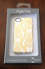 SALE!  New AGENT 18 Brocade Gold and White Floral iPhone 4/4S, IPhone Covers