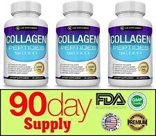 Premium Collagen Peptides 1500 MG Hydrolyzed Anti-Aging (I,II,III,V,X) 3 Months