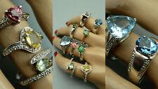 44EF Top Design 9x Damen Ring 925 Silber Schmuck Edelsteine Konvolut
