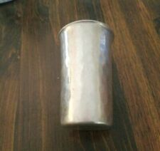 Vtg Buenilum Handwrought Decorative Metal Hammered Aluminum Cup. 12 oz.