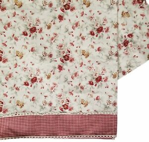 Waverly Garden Room Morning Glory and Gingham Curtain Cottagecore Fabric