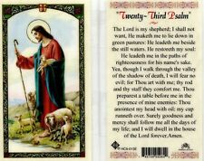 Twenty Third 23 Psalm Holy Prayer Card Catholic Laminated Lord is My Shepherd