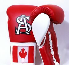 Professional Fight Boxing and training Red Leather gloves with lace up style