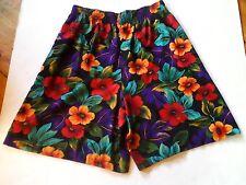 Vintage ILGWU Union Made Womens Floral Hawaiian Gaucho Pants Culottes size 34
