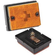 Wesbar 203111 Boat/Utility Trailer Amber Side Marker Light With Reflex Lens
