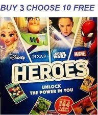 Sainsburys Heroes Cards Disney Pixar Marvel PICK YOUR OWN *BUY 3 GET 10 FREE*