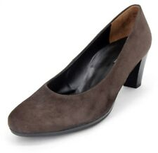 Paul Green Múnchen Taupe Brown Suede High Block Heel Classic Pumps Size US 10.5