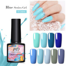 MAD DOLL 8ml Blue Series Color UV Gel Soak Off Gel Polish Varnish Gel Nails DIY