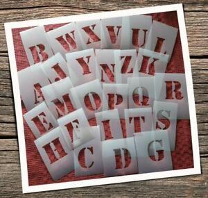 Schablonen ABC Groß Buchstaben Namen Text Ziffern Schrift Vorlagen Alphabet