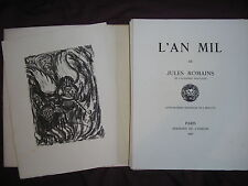 L'an mil par Jules Romains lithographies originales de Ernotte 1947