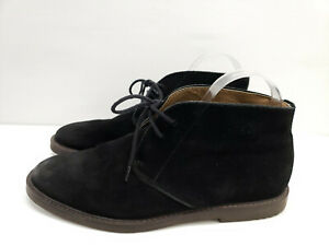 Banana Republic Size 9 Black Suede Leather Desert Boot  Lace Up Chukka